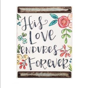 Block Sign - His Love Endures Forever